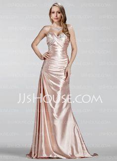 Evening Dresses - $139.99 - Sheath Sweetheart Sweep Train Charmeuse Evening Dress With Ruffle Beading (017020330) http://jjshouse.com/Sheath-Sweetheart-Sweep-Train-Charmeuse-Evening-Dress-With-Ruffle-Beading-017020330-g20330