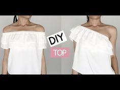 Coudre un Top Bardot - Haut à Volant - Tuto Couture DIY - YouTube
