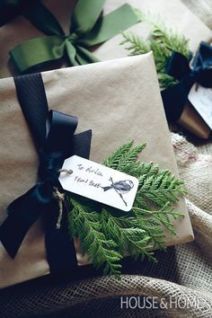 Rustic Gift Wrapping   Photo Gallery: Give Your Home A Holiday Makeunder   House & Home   Photo by Angus Fergusson