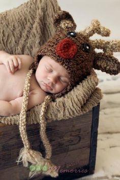 Rudolph Reindeer Crochet hat