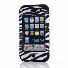 zebra otterbox for ipod touch 4 | TM cute 3 in 1 Zebra Defender Impact Hard Rubber Case for Ipod Touch 4 ...