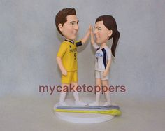custom wedding cake topper give me five by dealeasynet on Etsy