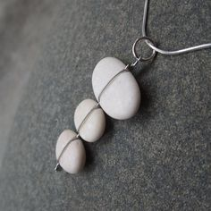 Natural stone necklace - unique beach stone jewelry handmade in Australia by NaturesArtMelbourne