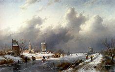 Flemish landscape painting of XIXth century