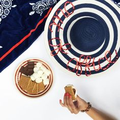 There's nothing like being out of office on a Monday (with a belly full of s'mores). Happy Fourth of July! (Follow link to see how to make this sun hat!)