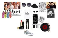 """""""Beatles Love"""" by hanna-debruhl on Polyvore featuring MANGO, Alexander McQueen, Alice + Olivia, Casetify, Lack of Color, Guerlain, Converse, Tatty Devine, Chanel and PhunkeeTree"""