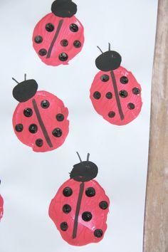 ladybug potato stamp