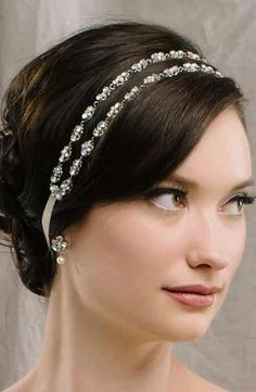 Sara Gabriel 'Rose' Two Strand Filigree Hair Ribbon