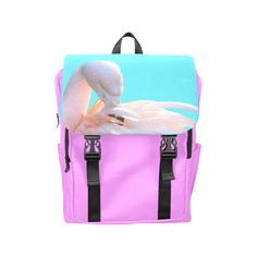 Flamingo Pink Mint Casual Shoulders Backpack (Model 1623)