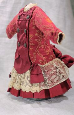 Marvelous Antique BEBE Doll Wool and Silk Dress German or French Antique Doll   eBay