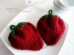 Crochet strawberry - tutorial & pattern (japan)