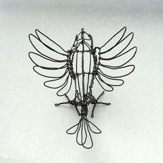 Wire Blackbird Sculpture - above by Ruth Jensen, via Flickr