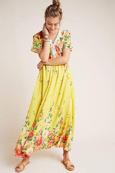 Farm Rio Samara Floral Maxi Dress