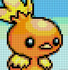 255 Torchic - Pokemon perler bead pattern