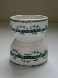Coquetier ancien art deco 1930 porcelaine