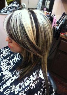 <3 black and blonde together.