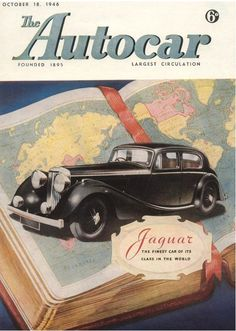 Autocar Magazine cover 1946 Jaguar