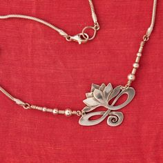 Lotus Necklace  sterling silver by BobsWhiskers on Etsy, $130.00