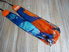 Seaside Inspired Scarf Camera Strap -  Orange Scarf DSLR Camera Strap - Photography Accessories -  Scarf Neck Strap by theWatermelonDesign on Etsy