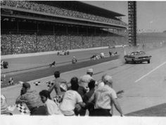 In 1970, car dealer Eldon Palmer braked late and lost control of the pace car on pit road and crashed into a photographer's stand.