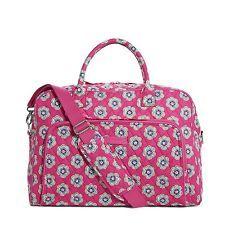 NWT Vera Bradley Weekender Travel, Carry On Bag in Pink Swirls Flowers print