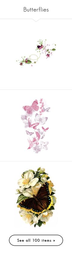 """""""Butterflies"""" by jennh20 ❤ liked on Polyvore featuring home, home decor, flowers, backgrounds, fillers, butterflies, tubes, butterfly home decor, pink and effects"""