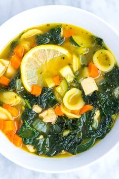 This easy lemony chicken and vegetable soup recipe checks all the boxes. It's hearty, healthy, satisfying and tastes incredible.