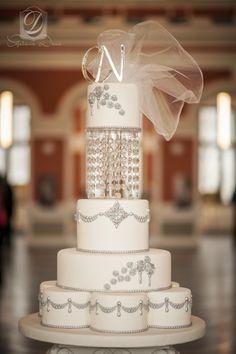 White & silver wedding cake - Cofetaria Dana https://www.facebook.com/cofetariadanaturda  cofetariadana.ro/