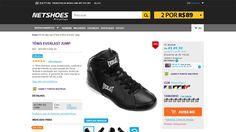 [Netshoes] Tênis Everlast Jump - Masculino - 7899387895810 - de R$ 146,50 por R$ 89,90 (38% de desconto)