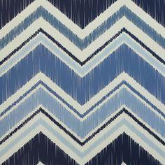 Papel de parede geométrico chevron azul e branco 033