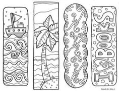 Coloring bookmarks – print, color and read | Hanna Nilsson Design ...