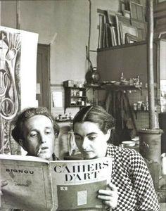 Arpad Szenes e Vieira da Silva, atelier Boulevard Saint-Jacques, Paris, c. 1937