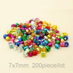 Acrylic Beads 7*7 mm, 200 pieces / Акриловые бусины 7*7 мм, 200 штук