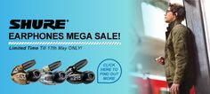 Shure Mega Sale! All Shure Earphones are in Crazy Price Cut! Come and Shop Now  >> http://www.eglobalcentral.eu/?subcats=Y&status=A&pshort=Y&pfull=Y&pname=Y&pkeywords=Y&search_performed=Y&q=shure&dispatch=products.search&utm_source=Pinterest%20Banner&utm_medium=Social&utm_campaign=Pinterest%20Promo