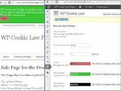 WP Cookie Law Plugin - YouTube #plugin #wordpress #eu