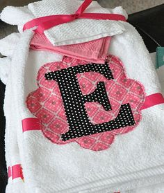 Applique towels