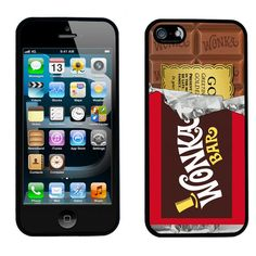Willy Wonka Golden Ticket Chocolate Bar iPhone 5 Case. Almost makes me want an iPhone ... almost. ;>