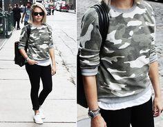 Camo in Soho (by Fashion Hoax) http://lookbook.nu/look/4156658-Camo-in-Soho