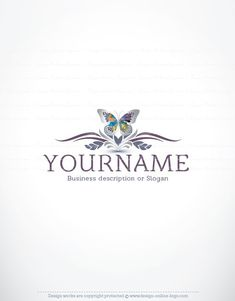 Exclusive Design: Decorations Butterfly Logo Compatible FREE Business Card