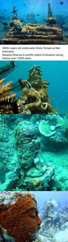 5000+ years old Hindu temple was found under water.