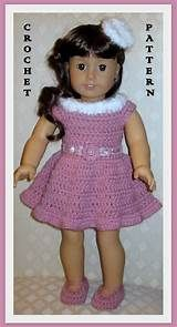 Spring Dress and Hat Crochet Pattern fits American Girl Doll