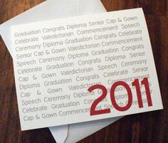 Graduation Card High School Graduation College Invitation 2012 Celebrate Ceremony Diploma by DesignsByTenisha, $1.50