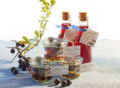 Rezept und Etiketten als Download: Schlehen-Genuss-Essig
