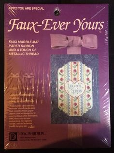 Faux-Ever Yours You Are Special VTG Counted Cross Stitch Kit NEW in Kits | eBay