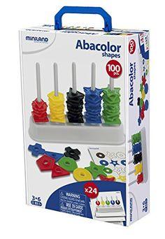 MINILAND EDUCATIONAL 95270 Koffer Formenspiel ABA Color 100