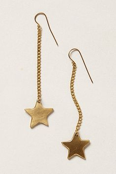 Brass Star Drops #anthropologie