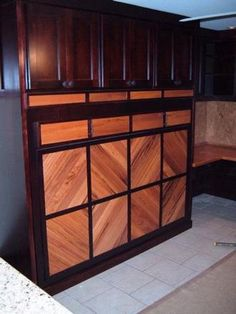 cool design on the bed's back.  Customer submitted project - murphy bed with Brazilian Koa front design.