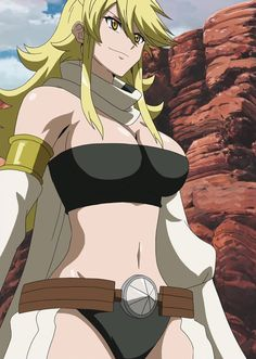 3rd place on the list of Akame ga Kill women, Leone. She is someone you would not want to piss off.