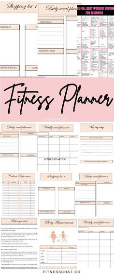 Looking for the best fitness planner printable to write down health journal ideas, meal planning and track your workouts? Check out this weekly fitness journal