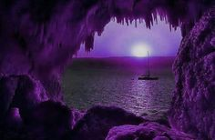 »✿❤Purple❤✿« Purple moon from a lovely cove